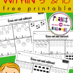 Subtraction within 10 kindergarten worksheets