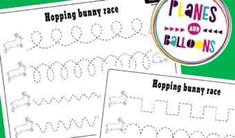Tracing lines printables preschool