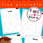 Tracing shapes worksheets pdf