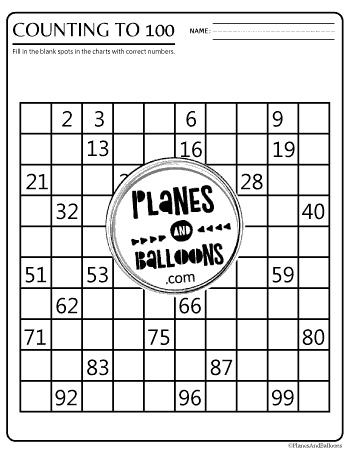 It's just a photo of Free Printable Hundreds Chart with fill in blank