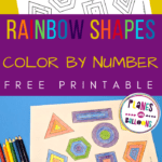 2D shapes color by number