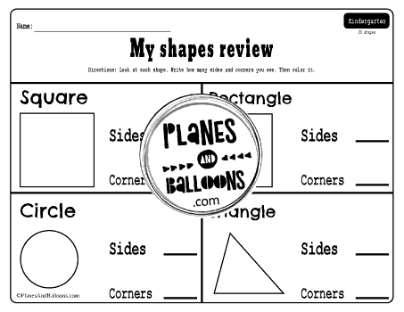 Properties of 2D shapes worksheets