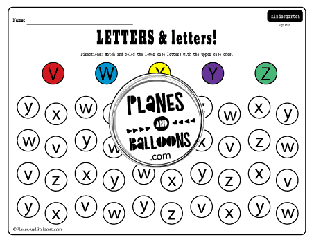 matching letters upper and lowercase
