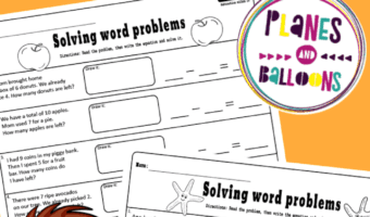 Addition and subtraction word problems kindergarten