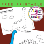 Dinosaur dot to dot printables