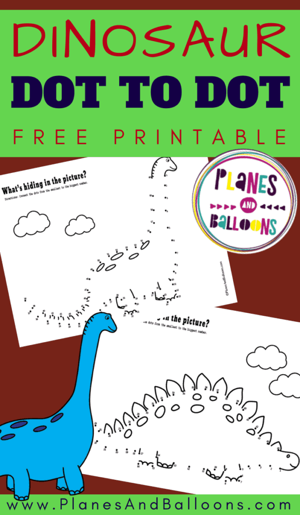 Dinosaur dot to dot printables
