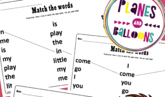 Dolch pre-primer sight words worksheets
