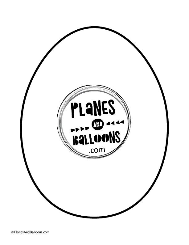 Easter egg templates pdf