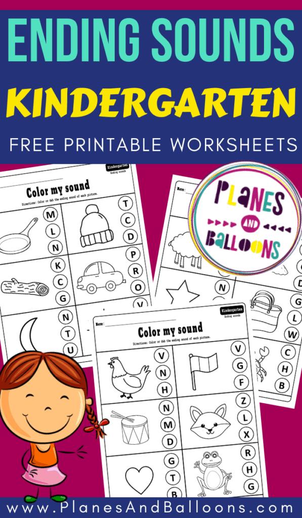 Ending sounds worksheets for kindergarten pdf