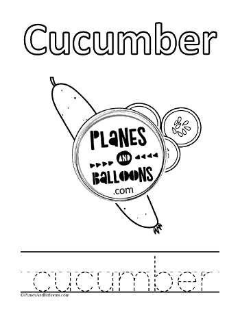 Fruits and vegetables tracing and coloring pages