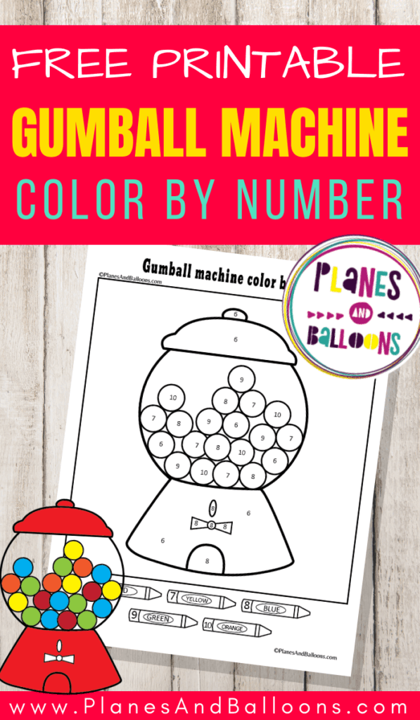 Gumball machine color by number