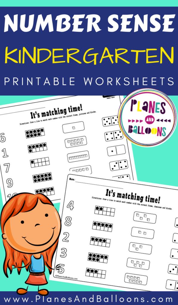 Number sense kindergarten worksheets