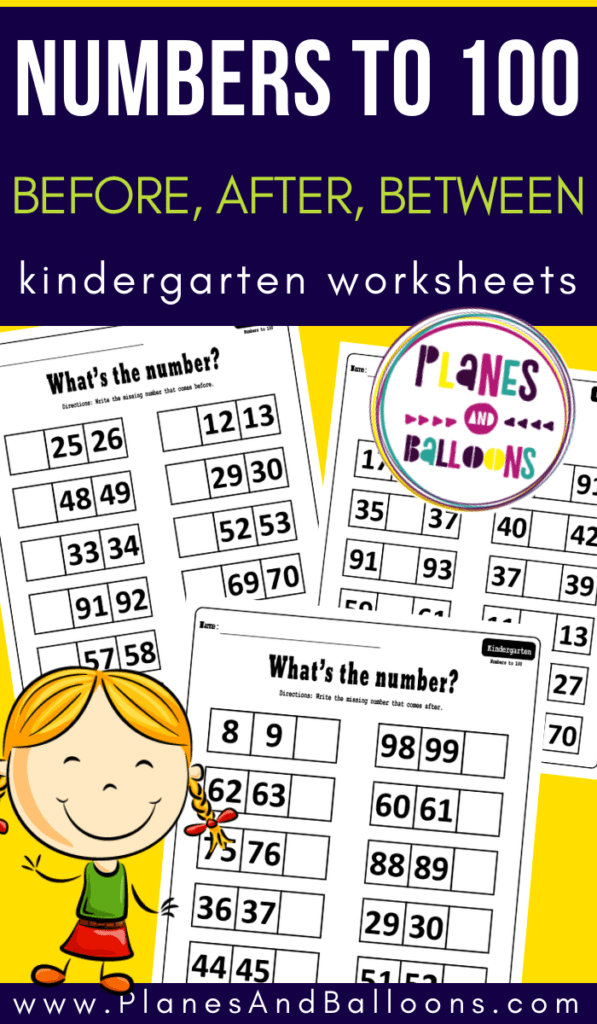 Numbers 1-100 worksheets for kindergarten and first grade ...