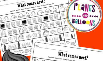 Kindergarten patterns worksheets