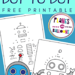 Robot dot to dot printables