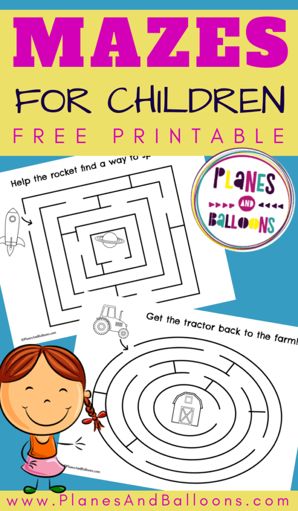 Simple mazes for kids free printable