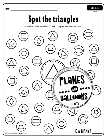 spot and dot shapes free printable