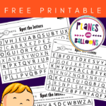 Spotting letters alphabet worksheets