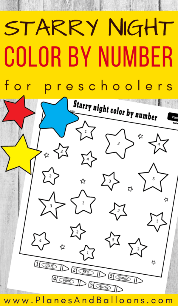 stars color by number preschool