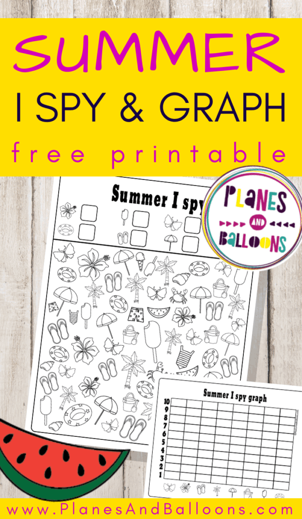 Summer I Spy free printable
