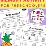 preschool memory worksheets pdf
