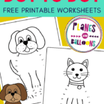 Cat and dog dot to dot worksheets