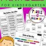 Days of the week worksheets for kindergarten