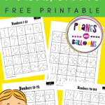 Free printable number tracing worksheets 1-100