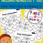 missing numbers 1-100 worksheets