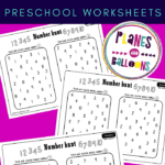 number hunt worksheets on a pink background