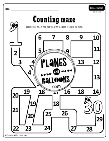 number maze 1-30