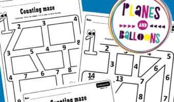 number maze worksheets for kindergarten