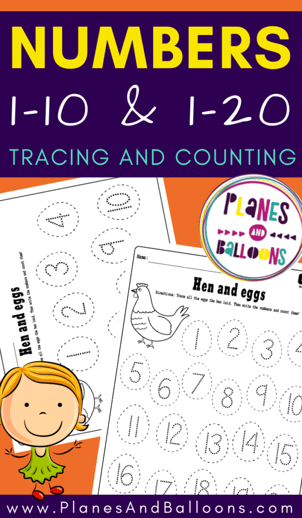 Number worksheets 1-10 and 1-20