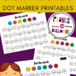 pre-primer sight words dot markers worksheets
