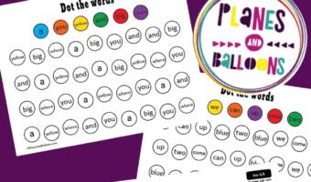 pre-primer sight words dot markers worksheets