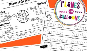 Seasons worksheets for kindergarten