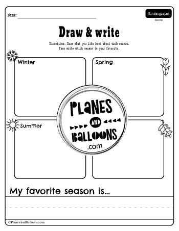 My favorite season worksheet