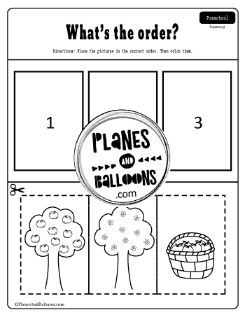 how apples grow sequencing worksheet