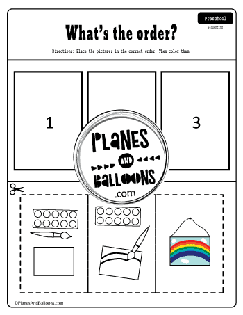 how we paint a picture sequencing worksheet