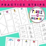 summer scissor skills worksheets