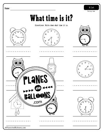 Time worksheets half past
