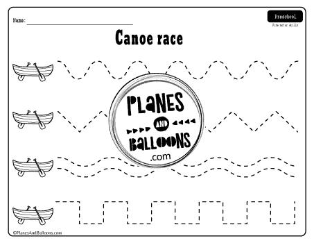 tracing horizontal lines worksheets