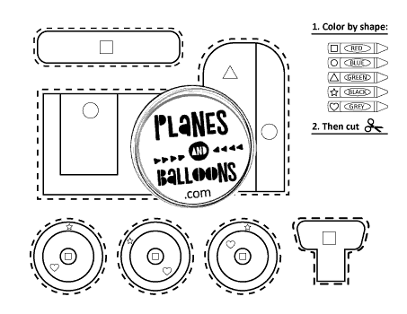 Fine motor train worksheets for preschool