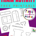 Fine motor train worksheets for preschool