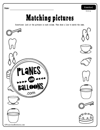matching pictures worksheets