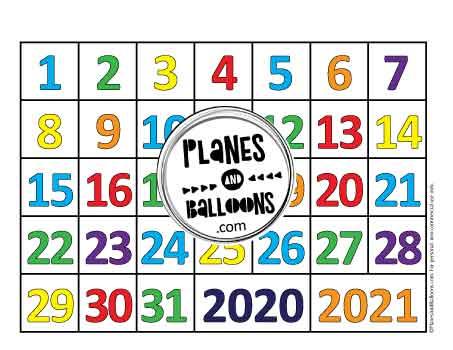 31 calendar days for circle time