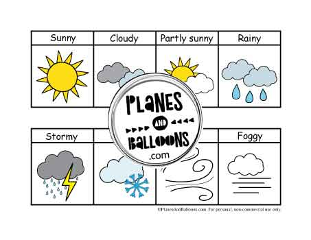 Weather pictures for preschool circle time