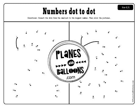 Numbers 2 and 3 dot to dot printables
