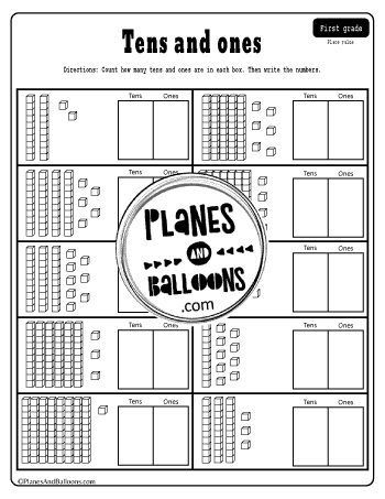 Place value graphic representation worksheet