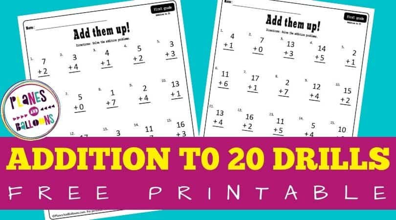 addition without regrouping grade 1 - free worksheets